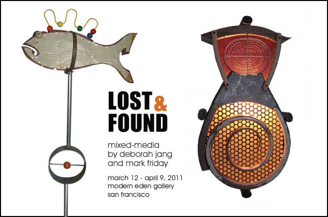 Lost & Found, mixed media by deborah jang and mark friday, opening March 12, 7-10pm